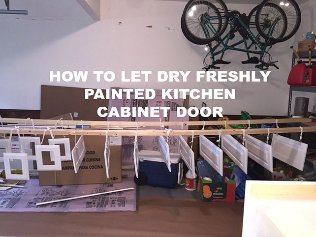 How To Hang Cabinet Doors For Painting