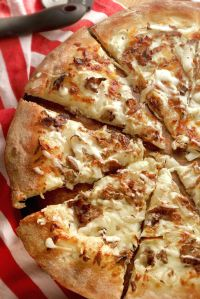Philly Cheese Steak Pizza - thinly shaved steak and onions ...