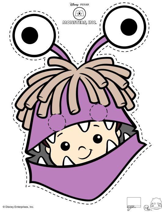 Printable Boo Mask  Monster inc  Pinterest  Masking Monsters and Birthdays