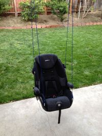 Diy car seat upcycle diy baby swing outdoor | Clever ideas ...