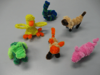 arts and crafts pipe cleaners | Pipe Cleaner Animals by ...