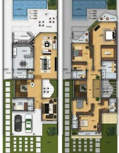 Plantas de sobrados com quartos gratis house layouts marla planfloor also floor plans  drawings rh pinterest