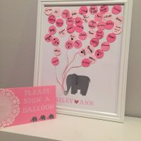 Diy baby shower guest book. Elephant themed for our baby