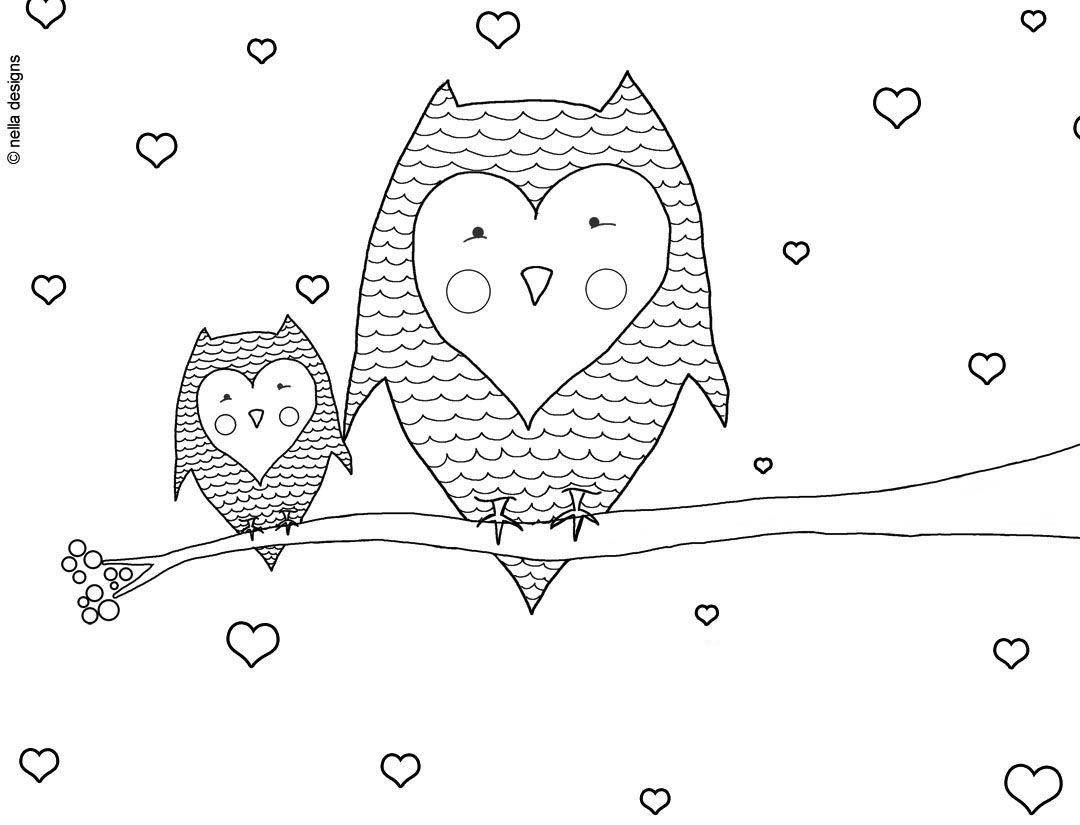 Happy Valentines Day Mom Coloring Pages