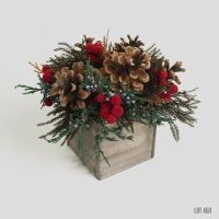 Christmas Centerpiece, Holiday Decor, Red and Gold