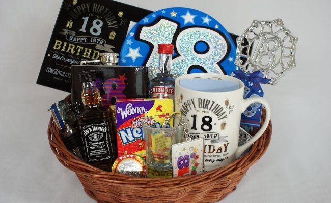 Personalised 18th Birthday Gift Basket For Boys Birthday 18 Pinterest Birthday Gifts