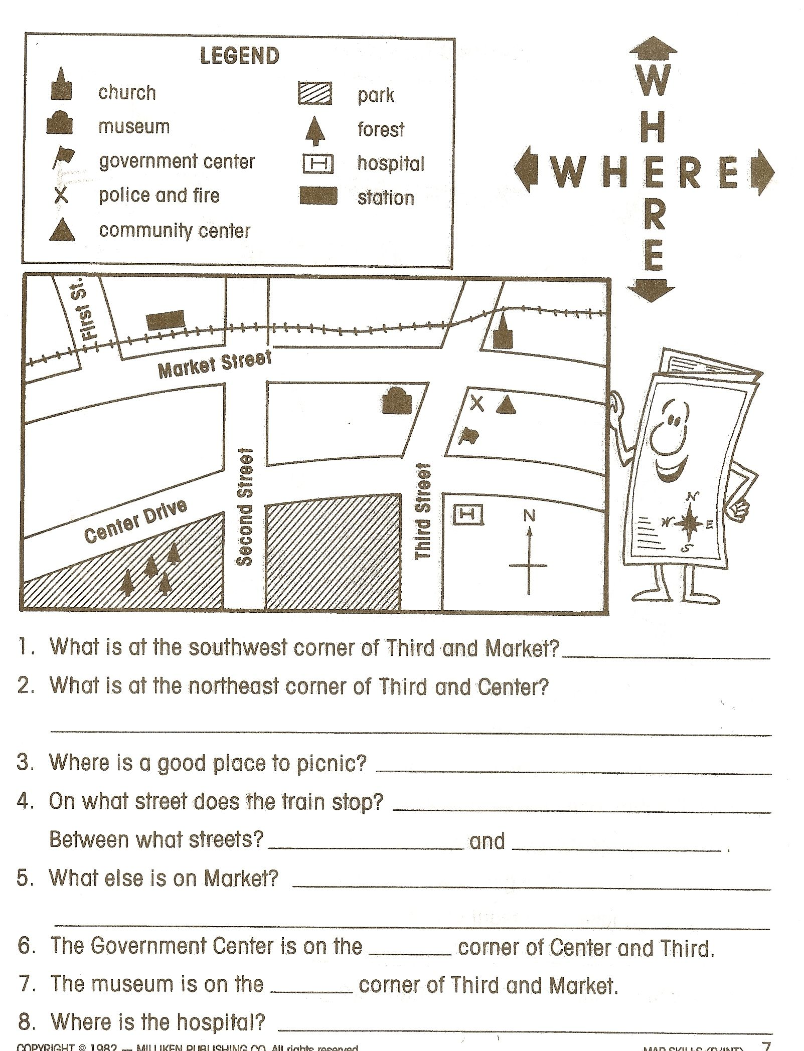 Map Worksheet For First Grade
