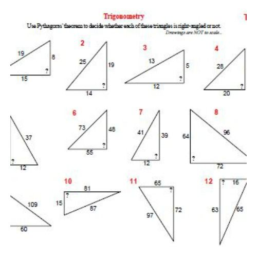Trigonometry worksheets.
