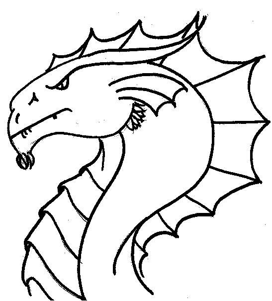 Side View Of Dragon Head I Like The Belly Ridges Overlapping Detail Coloring Pages Draw A