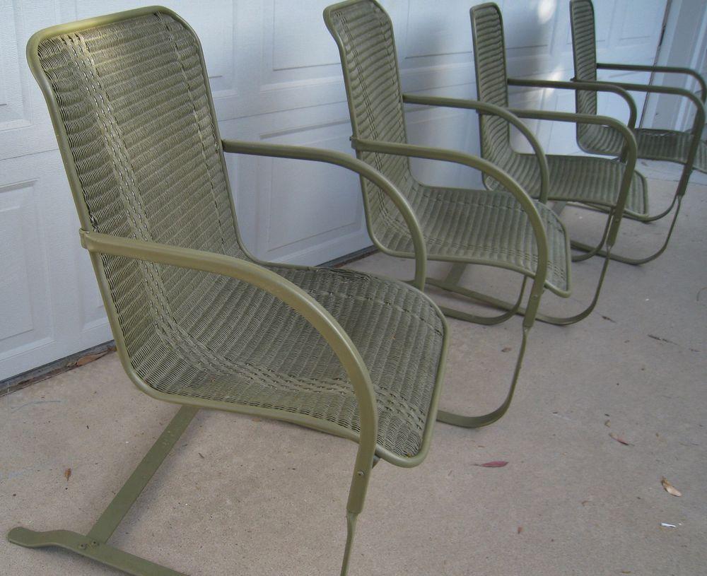 √ Vintage Wicker Bouncy Chairs By Lloyd Loom Set Of 2