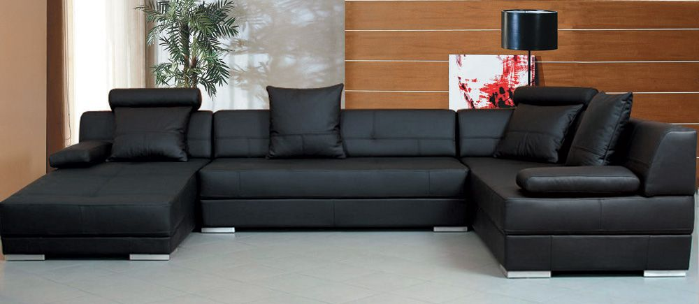 Black Sectional Sofa Sofas Pinterest Black Sectional Sofas