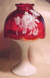 Vintage Milk Glass Westmoreland Candle Light Lamp ,Flower ...