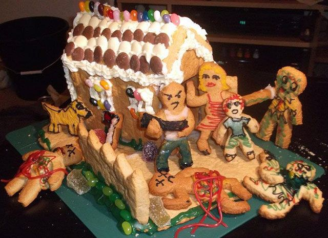 Gingerbread House Zombie Attack Hahahaha I Bet You Wish We Did