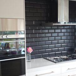 Black And White Tile Kitchen Moroccan Backsplash Image Of Subway Home