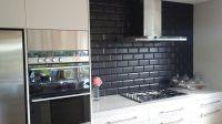 Image of: Black Subway Tile Kitchen Backsplash   Home ...