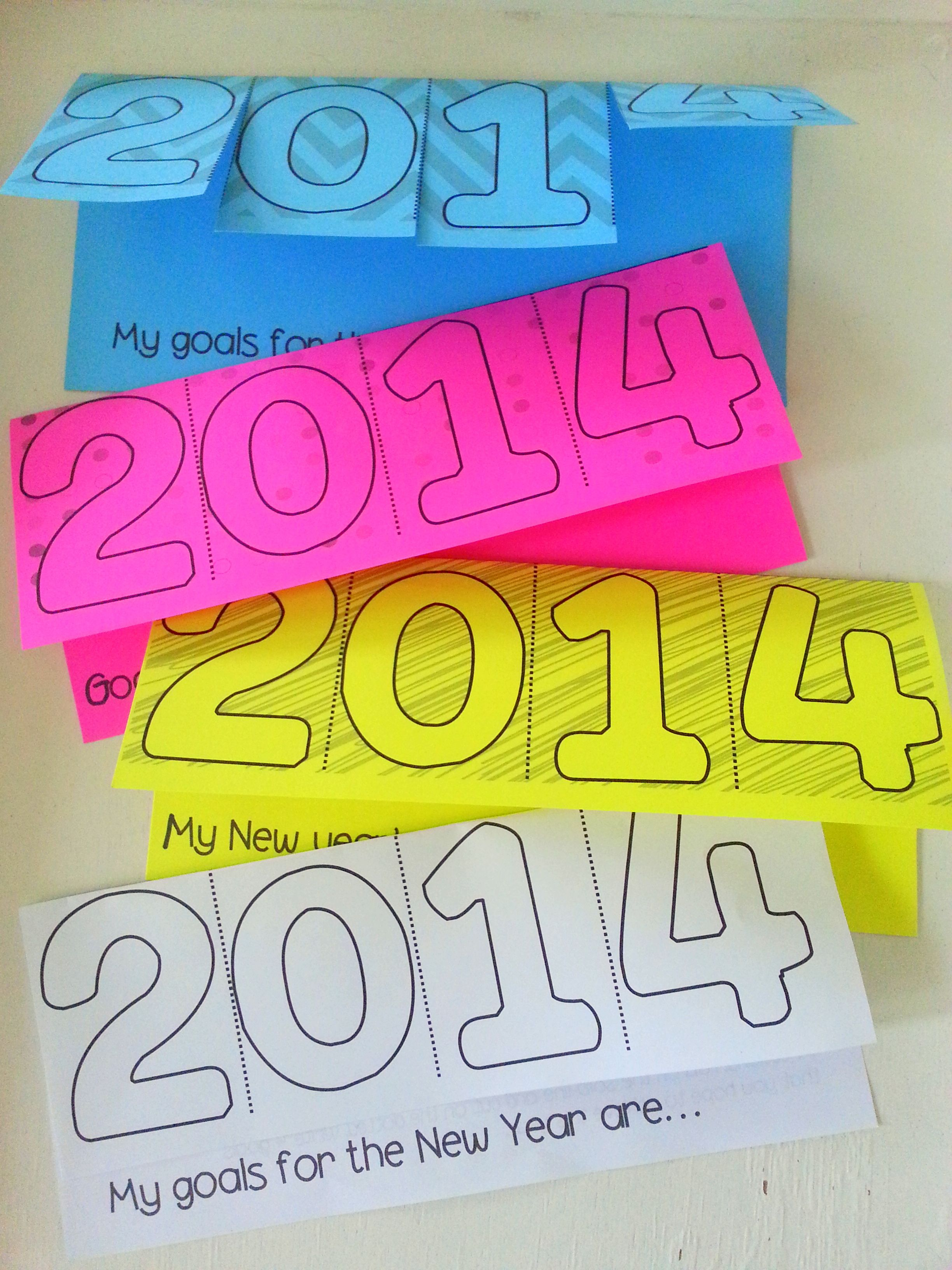New Year Resolutions Tab Book Quick And Easy Writing Activity For The New Year Freebie