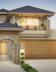 One of our most popular narrow storey homes this design features limestone rubble walls also rh pinterest