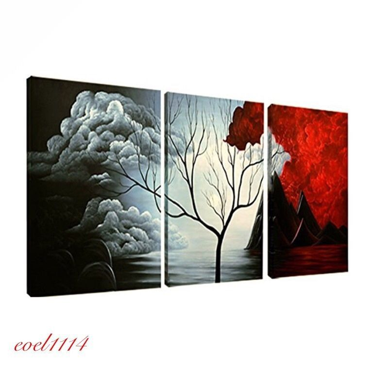 Abstract oil painting canvas hand made modern home decor framed wall art black also rh pinterest