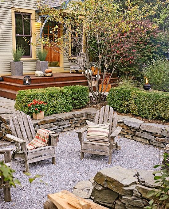 Pea Gravel Patio  Garden Nooks & Living Spaces
