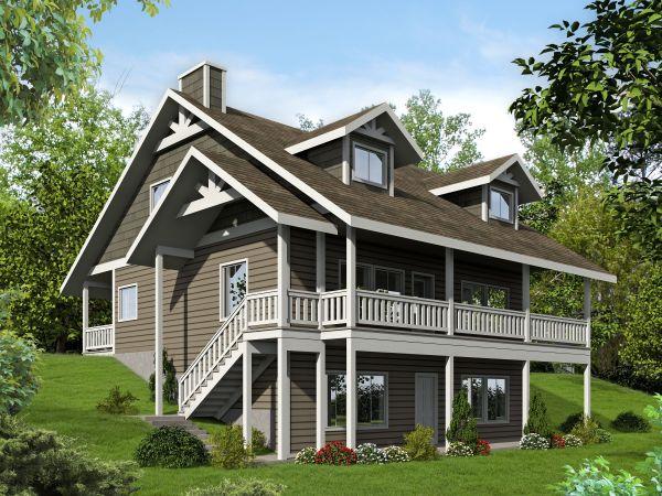 Plan 35507gh Porches Front And Walkout Basement
