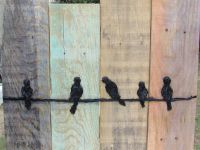 Birds on a Wire Wall Hanging-Rustic Wall Decor - Reclaimed ...