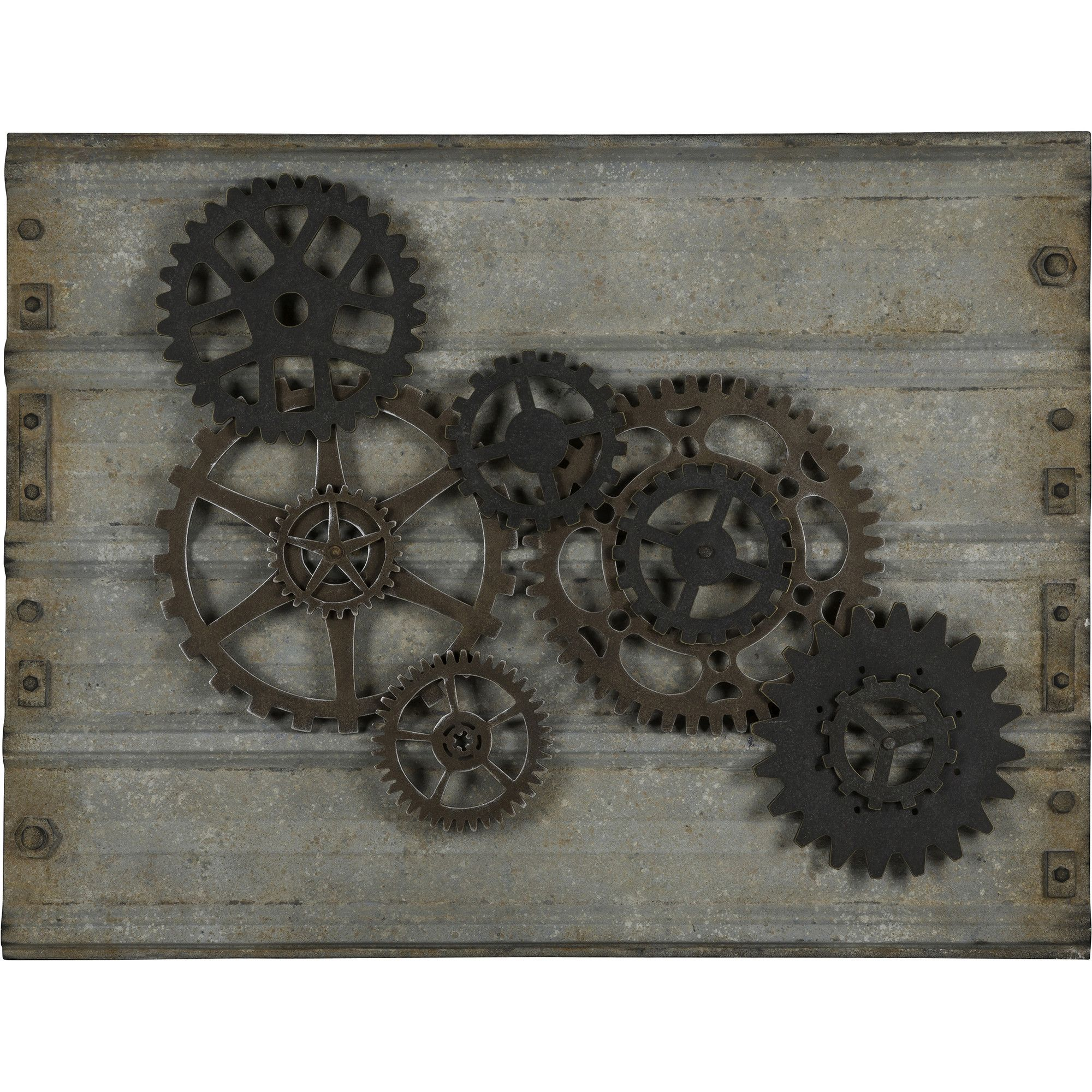 The handsome Gear Wall Hanging will bring style to any