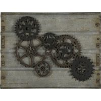 The handsome Gear Wall Hanging will bring style to any ...