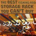 Fishing pole rack fishing pole holder and fishing rod storage