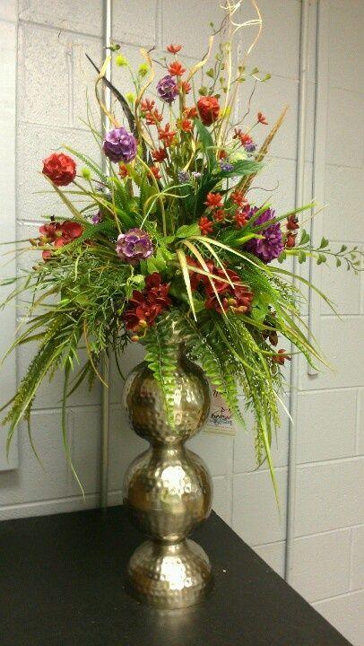 Large Unique silk Floral Arrangements  Custom by kel  Silk floral arrangements  Ideas for