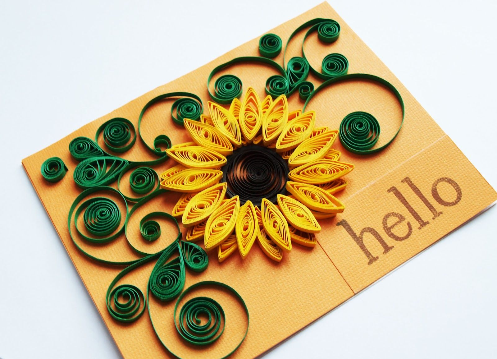 sunflower quilling  Google Search  Quilling  Pinterest