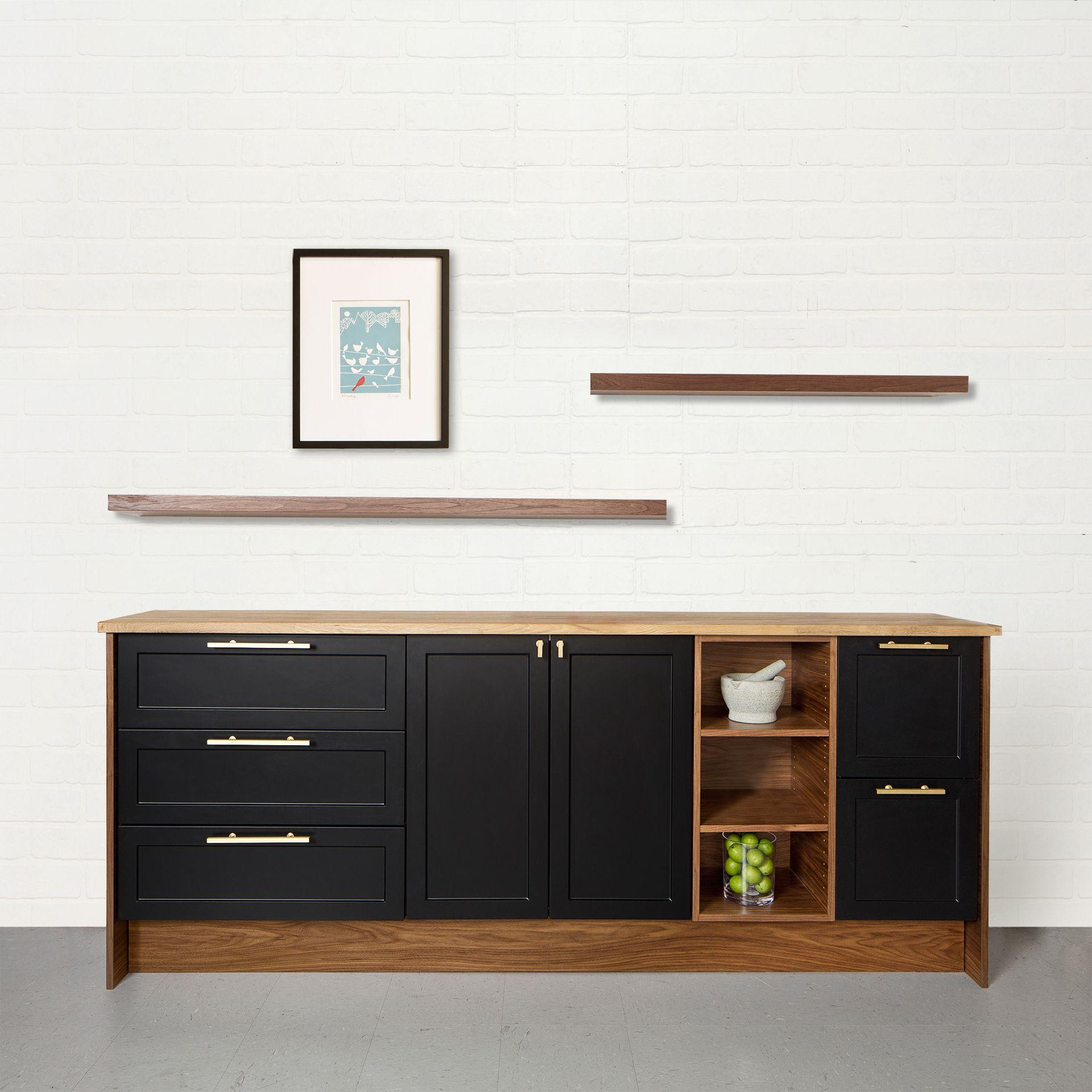 ikea shaker kitchen cabinets contractor nj semihandmade supermatte black