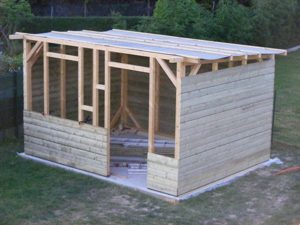 Cabanon jardin coin jardin abris de jardin cabane bois for Construire son abri de jardin en bois