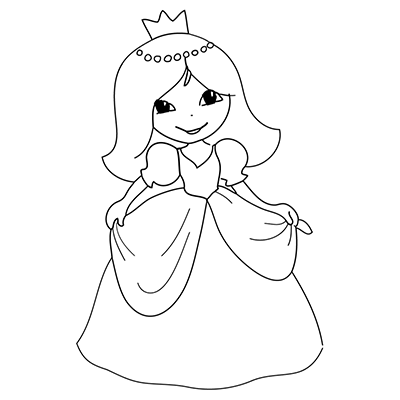"Marabu Window Color Malvorlage ""Prinzessin 2"""