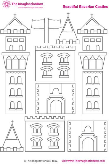 Build you own imaginary castle, free PDF printable