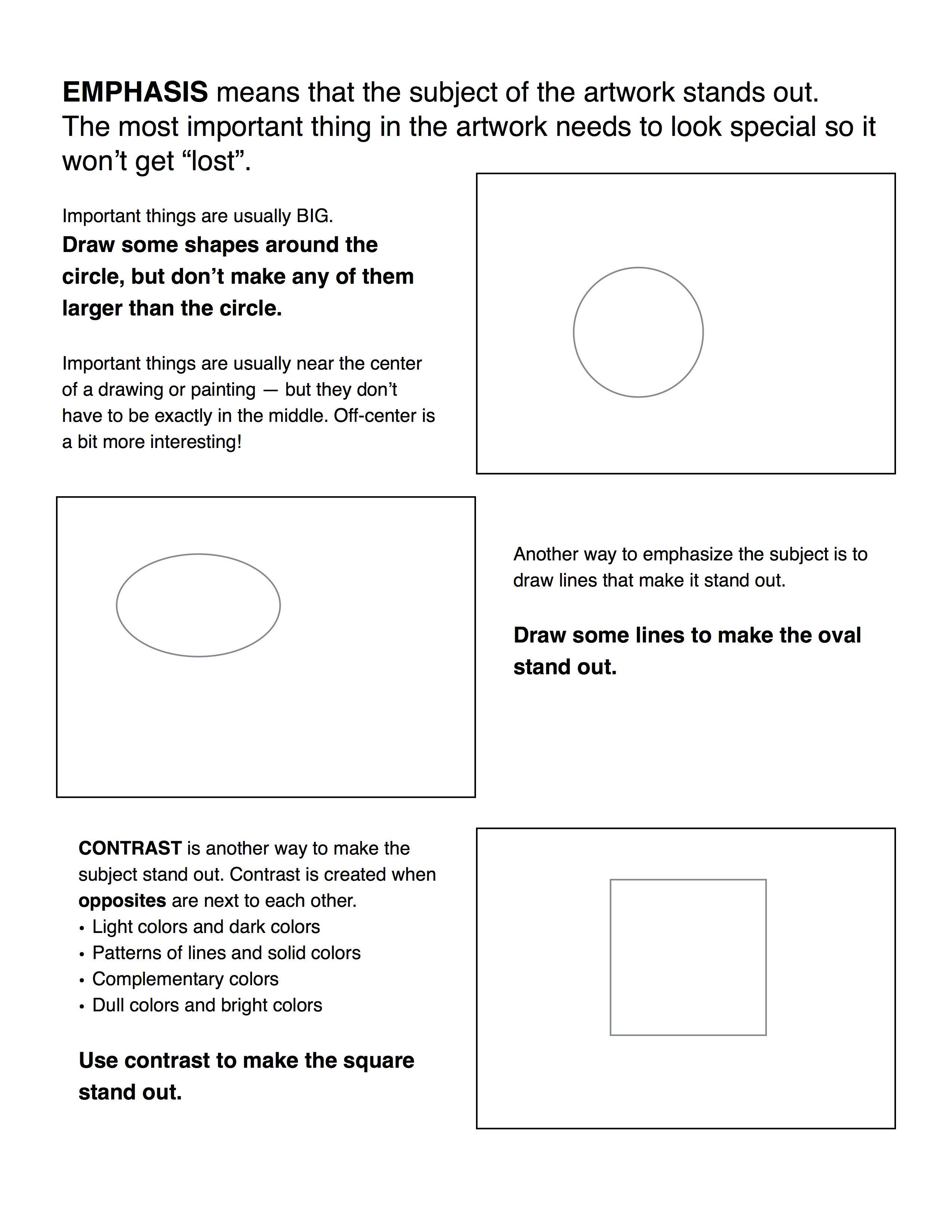 Elements Of Art Notes Worksheet