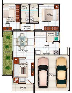 Plano de casa  house plansfloor planshouse projectsloftsideas also planos casas chicas pinterest rh