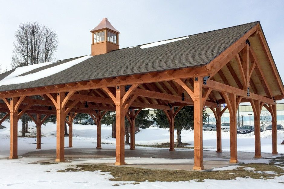 30 X 50 Timber Frame Pavilion At Wcsu In Danbury Ct