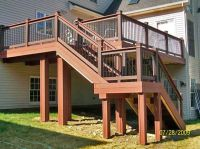 Tall Deck with stairs and landing | Ideas for the House ...