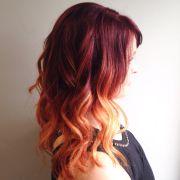 red copper ombr. medium length