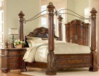 big post bed king size | queen canopy bed | eBay ...
