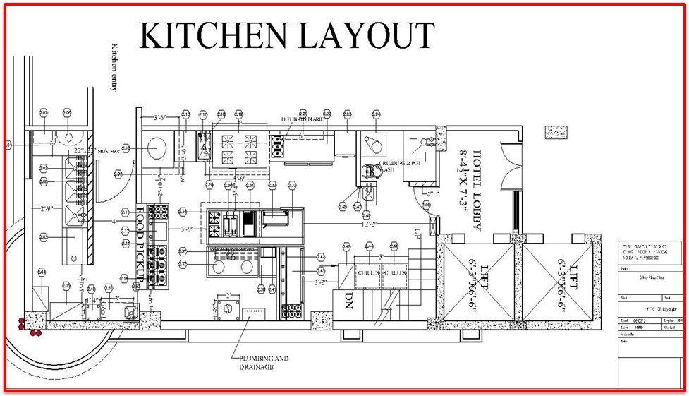 Restaurant Kitchen Layout Plan