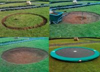 10ft. In-ground Trampoline & Safety Net Combo *European ...