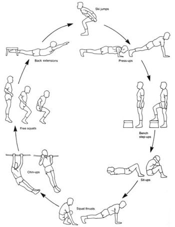Circuit training plan creator. Has a sketch of all the