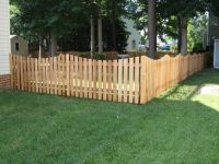 4 ft. Cedar Scalloped Picket