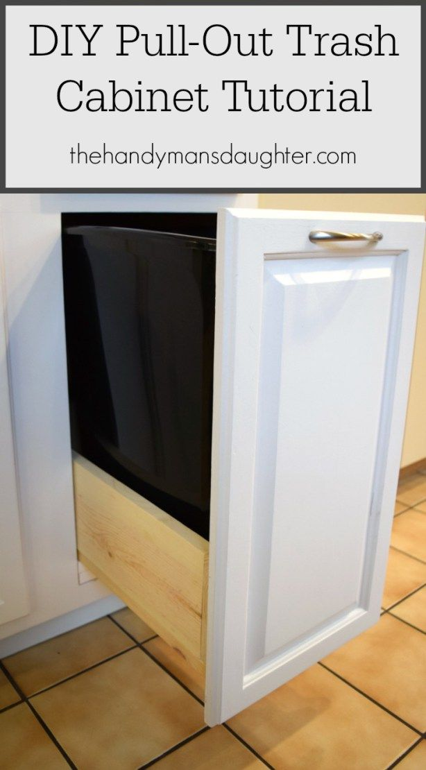 DIY Pull Out Trash Can Cabinet Tutorial  Drawers