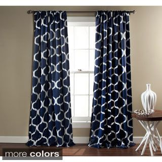Aurora Home Moroccan Tile 96 Inch Window Curtain Panel Pair By