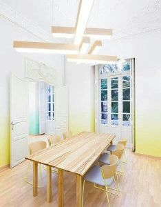The interior and identity was designed by studio masquespacio  fresh branding completely coherent with  also love gradient meeting room design pinterest rooms rh