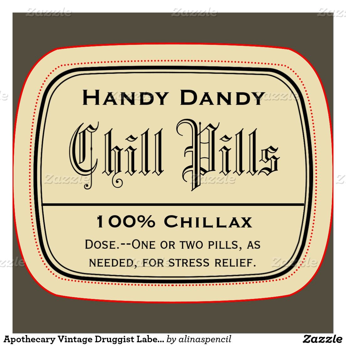 Free Printable Chill Pills Label