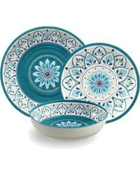 Morrocan Medallion Melamine 12 Piece Dinnerware Set by ...