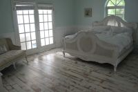 my shabby chic bedroom with painted distressed floors ...